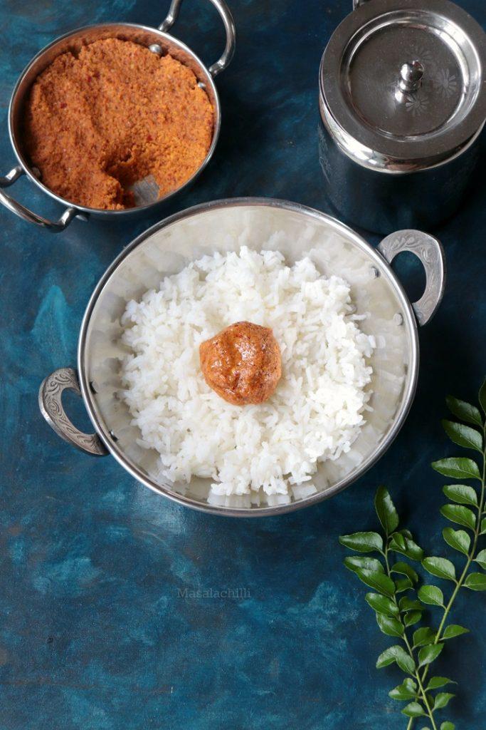 Vepampoo Thogayal (South Indian Dried Neem Flower Chutney)