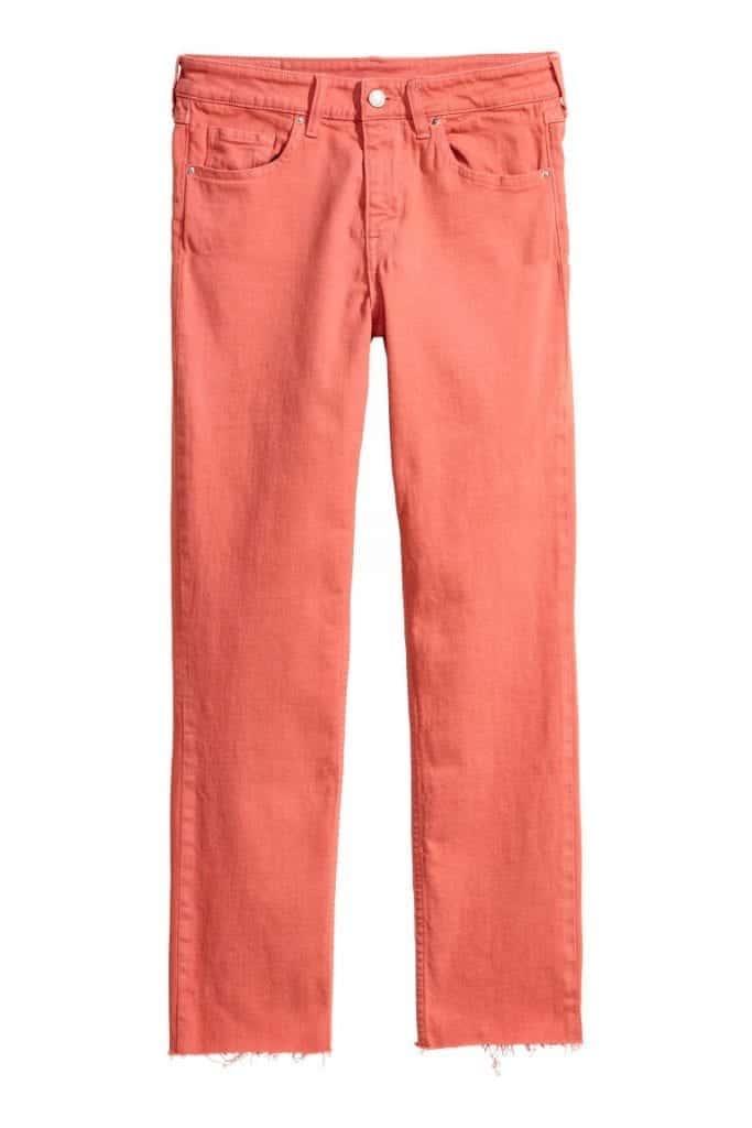 Slim Regular Ankle Jeans H&M | Living Coral Trends | OPAS Blog