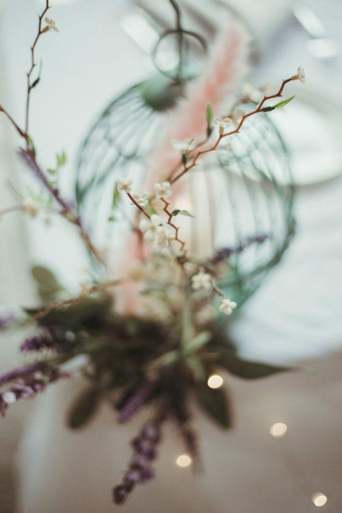 wedding table birdcage decoration