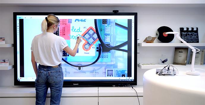 visualiseur mobile pour décortiquer une carte Arduino