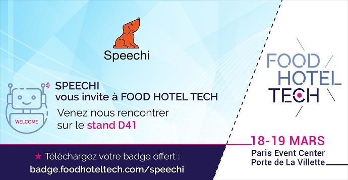 speechi sur le salon food hotel tech