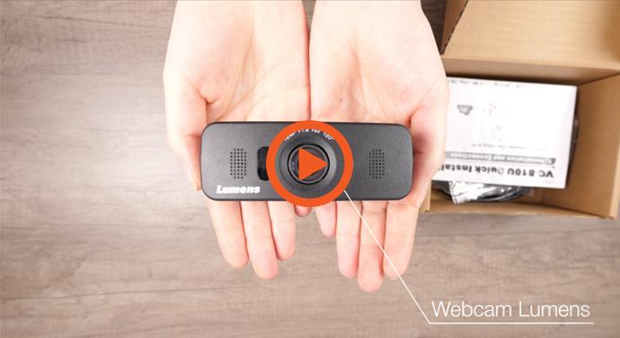 La vidéo IN THE BOX de la caméra UHD Lumens pour écrans interactif en visioconférence