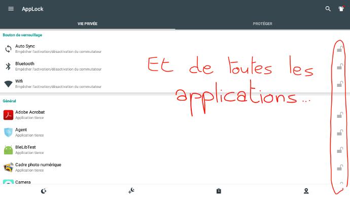 bloquer l'accès aux applications sur écran interactif