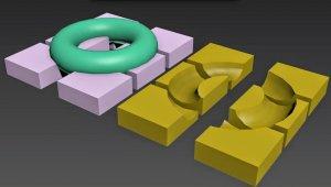 Обзор 3Ds Max булевые операции