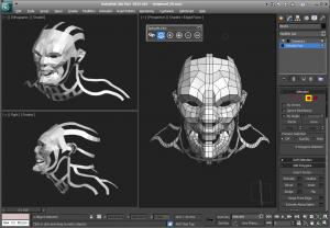 Обзор 3Ds Max полигональное моделирование