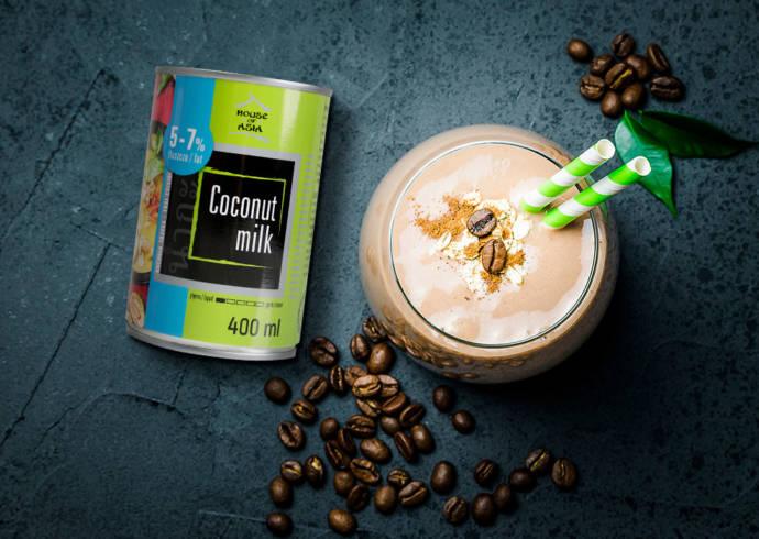 Mrożona kawa kokosowa z lodami waniliowymi