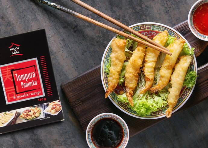Krewetki w tempurze z aromatycznymi sosami House of Asia