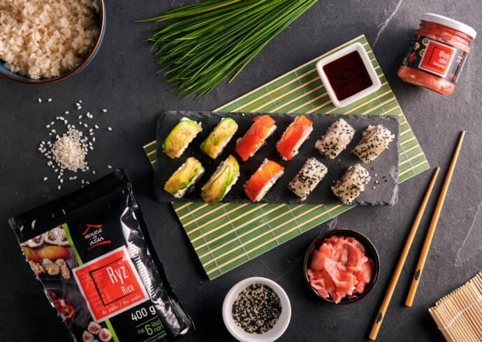 Przepis Uramaki i kaburamaki sushi House of Asia