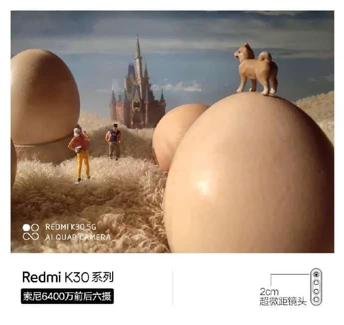 câmera macro do Redmi K30