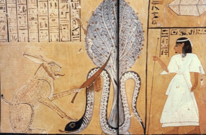 Удивительный египетский миф о разумных змеях, погибших от летящей звезды смерти