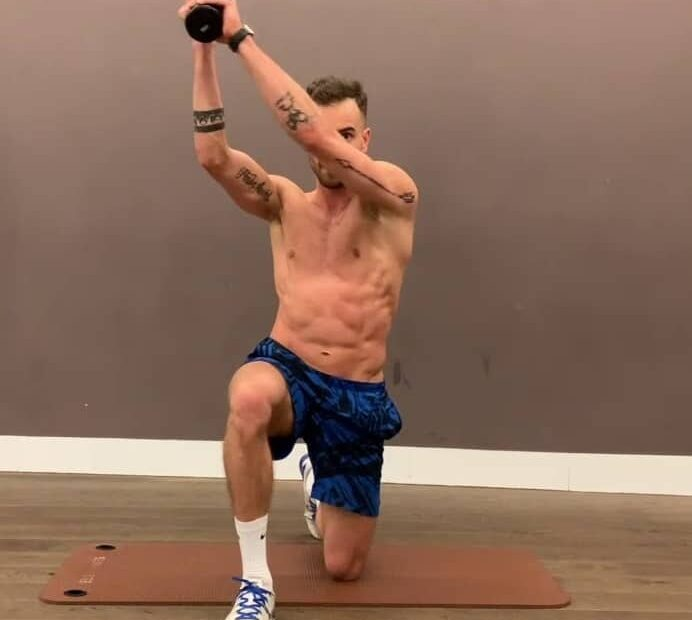 standing ab exercises with dumbbell
