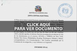 Informe voto en el exterior.