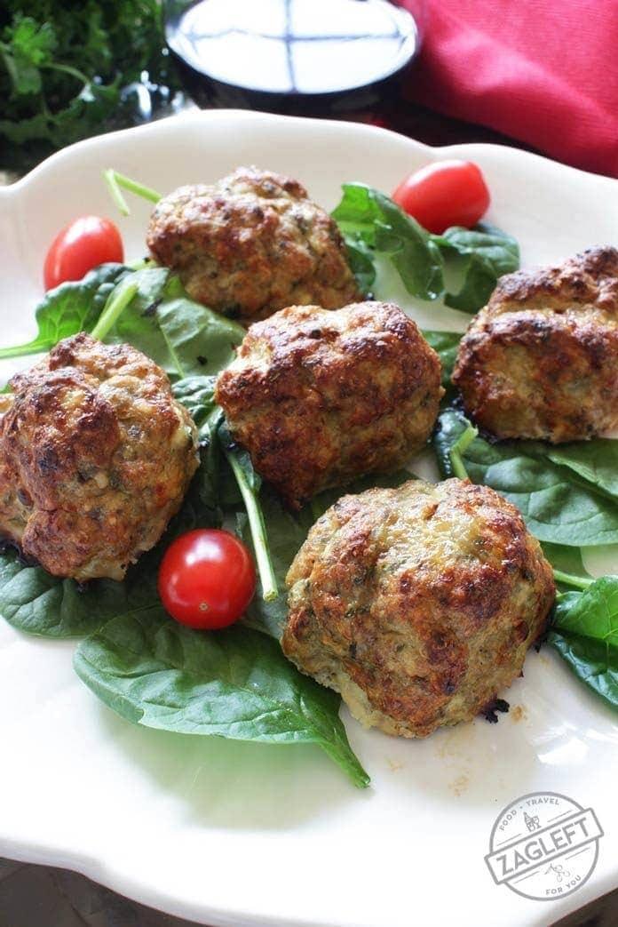 Turkey Meatballs For One | onedishkitchen.com