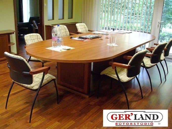 10 fős tárgyalóasztal