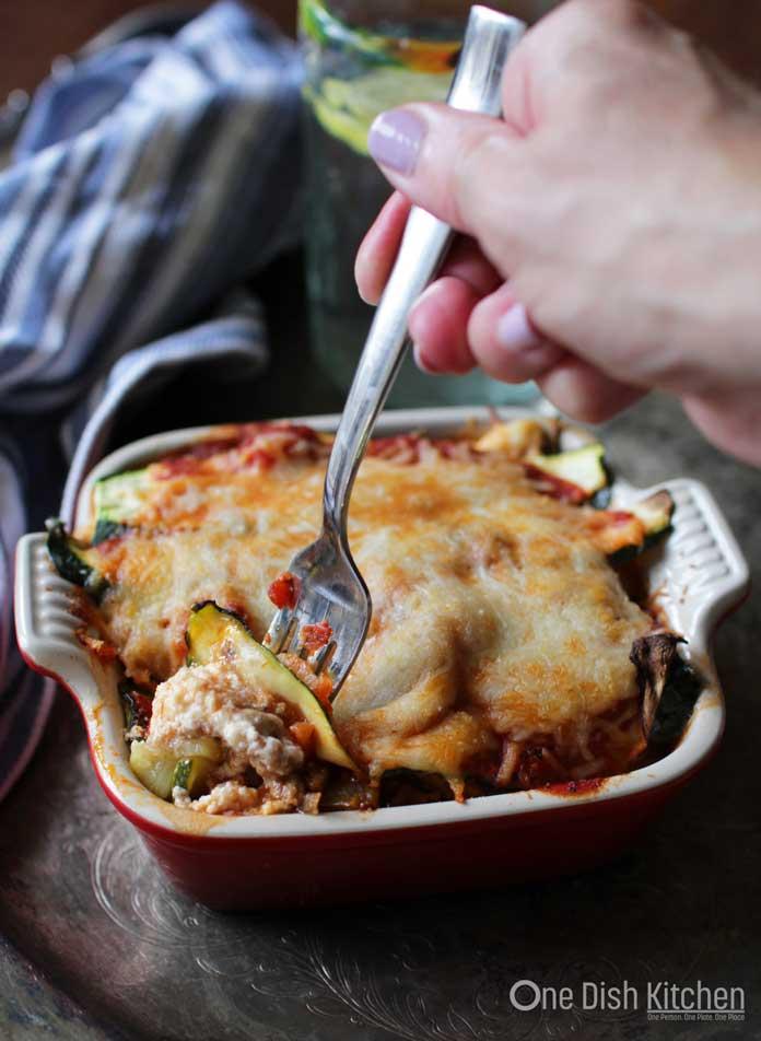 Zucchini Lasagna Ready to Eat | One Dish Kitchen