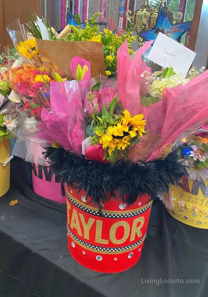 Dance Performance Flower Bucket Bouquet Gift