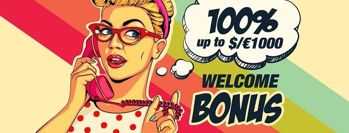 100% bonus and 100 free spins at Rant.com
