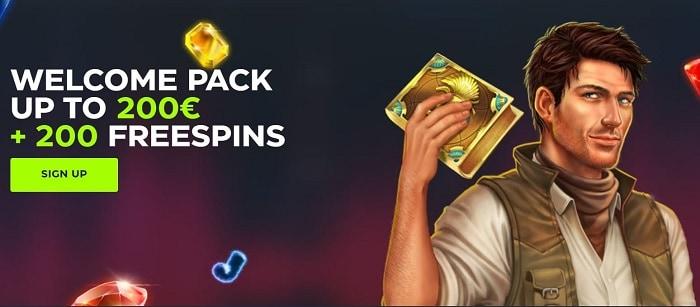 200 FS and 200 EUR bonus pack