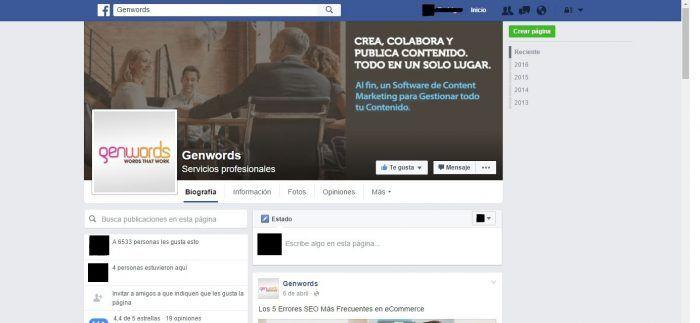 facebok content marketing