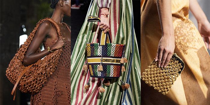 Bag trends 2021 - net handbags | 40plusstyle.com