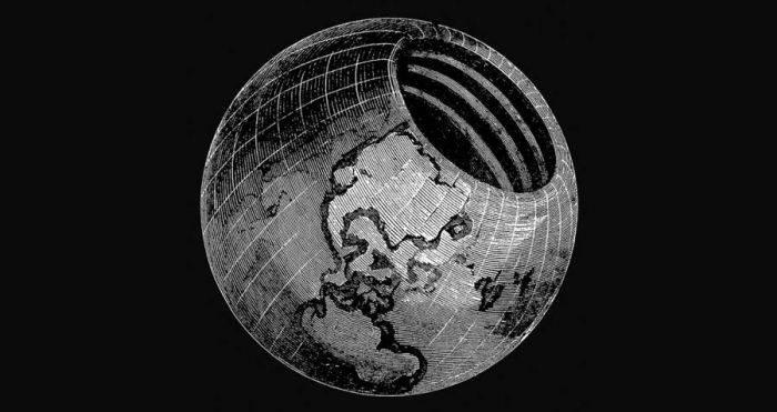 Pământul gol pe dinăuntru