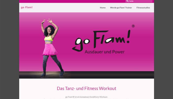 Website von go Flam! - Referenz von Text und Wert