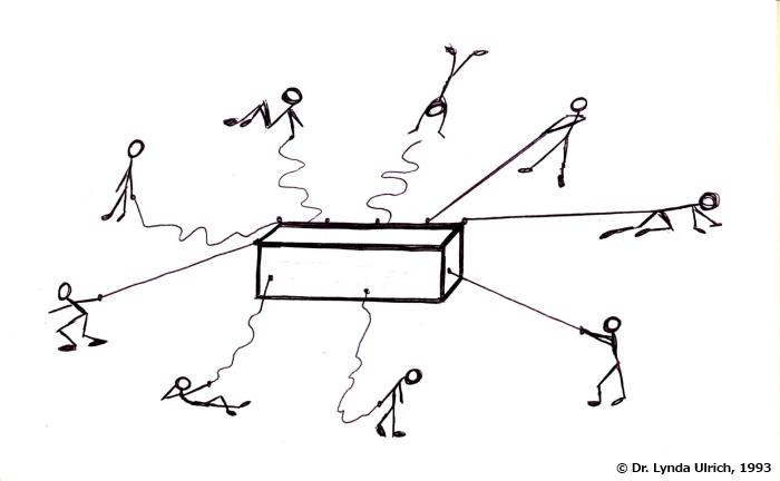 Image: Leadership at work diagram