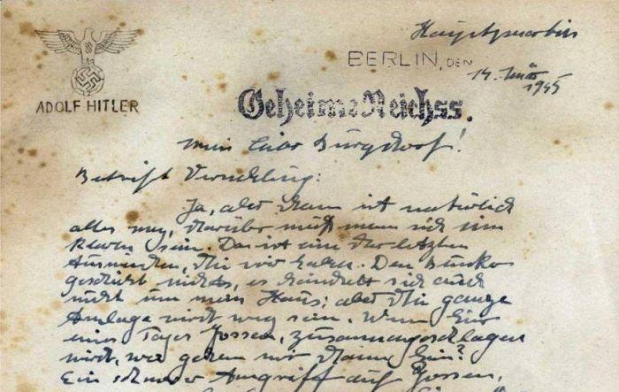 adolf hitler scrisoare