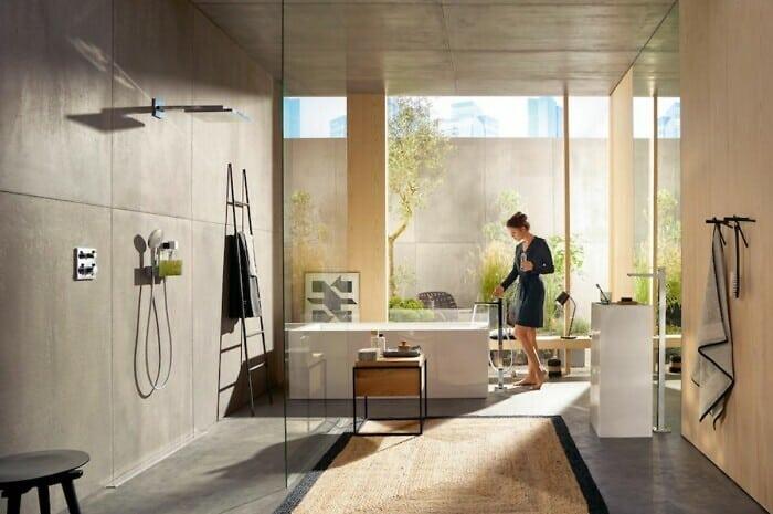 Geometrische Formen erobern das Badezimmer