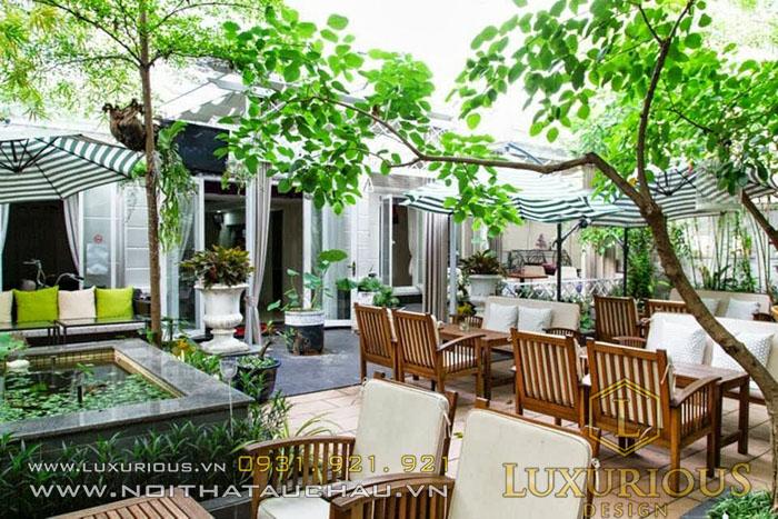 Mẫu quán cafe sân vườn