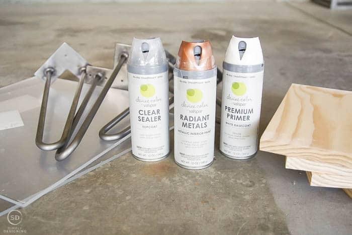 DIY end table supplies