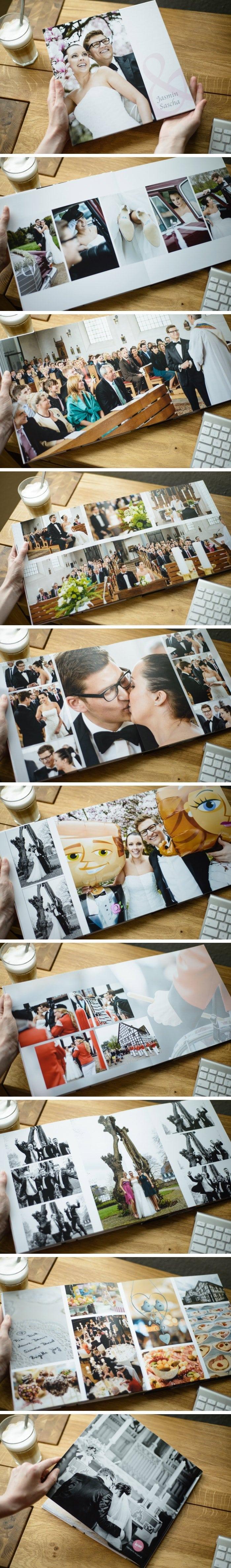 Es ist nochmal was anderes wenn man die Bilder in Händen halten kann. Ich hab schnell mal einige Seiten der neuen Hochzeitsbücher abfotografiert. Nun ab zur Post, die zwei Paare freuen sich sicherlich wenn ihr Buch flott ankommt.
