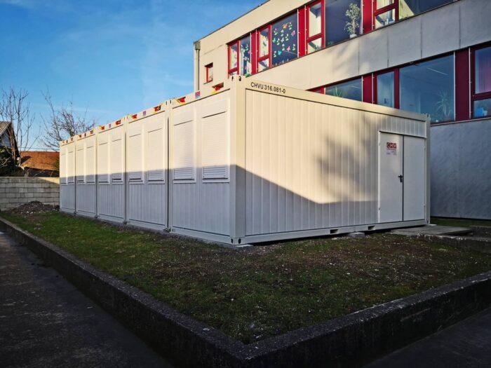 Gemeinde Mannersdorf Containeranlage Schule Kantine