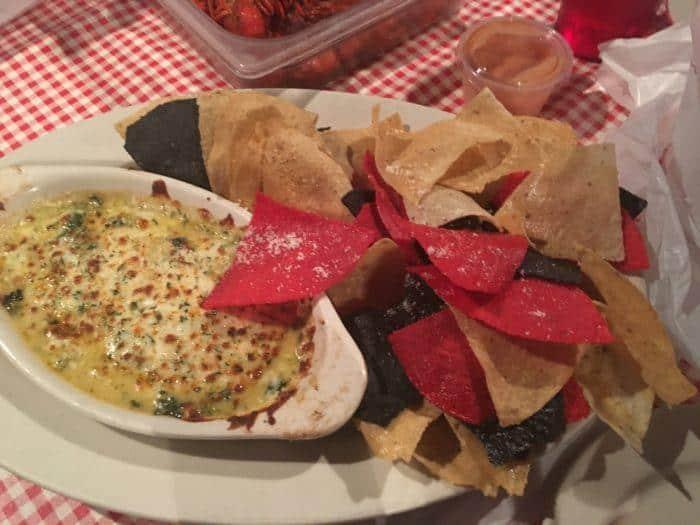 Warm artichoke dip at randol's isn't cajun but it's good.
