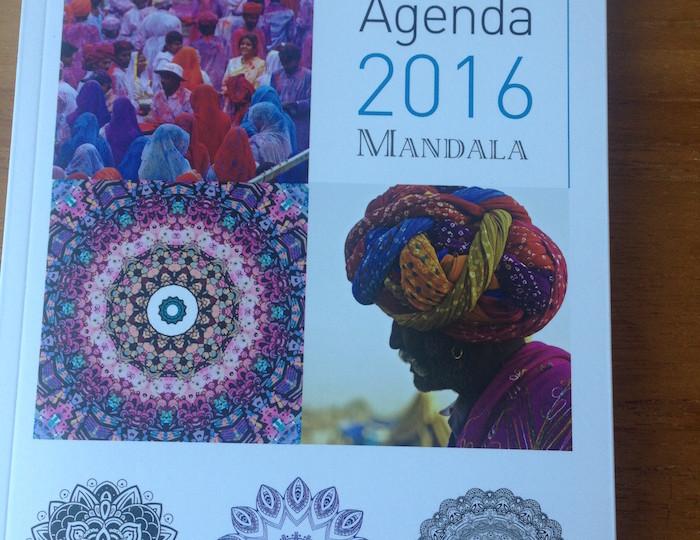 Agenda 2016 Mandala aux éditions La Plage