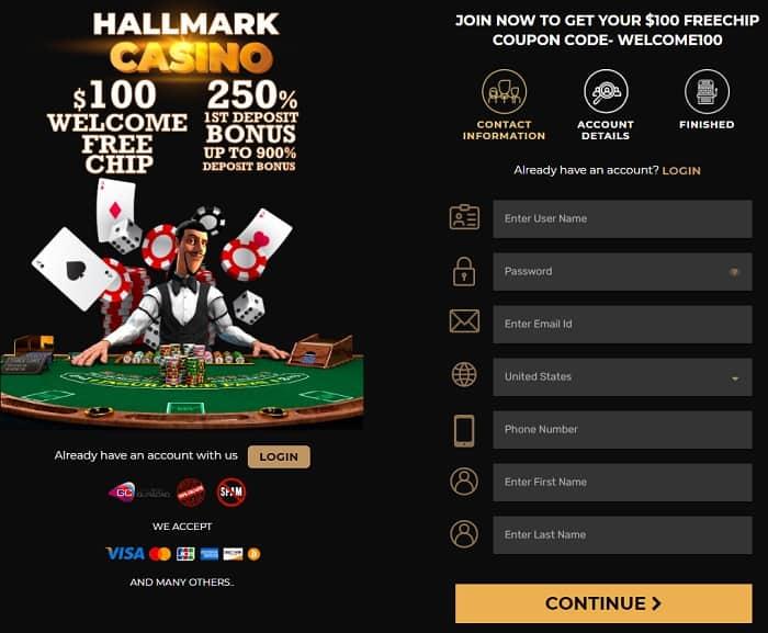 Hallmark No Deposit Bonus Code