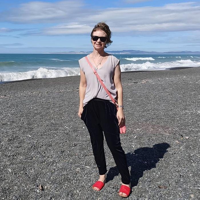 Best women's sandals - Rachel in red slip ons | 40plusstyle.com