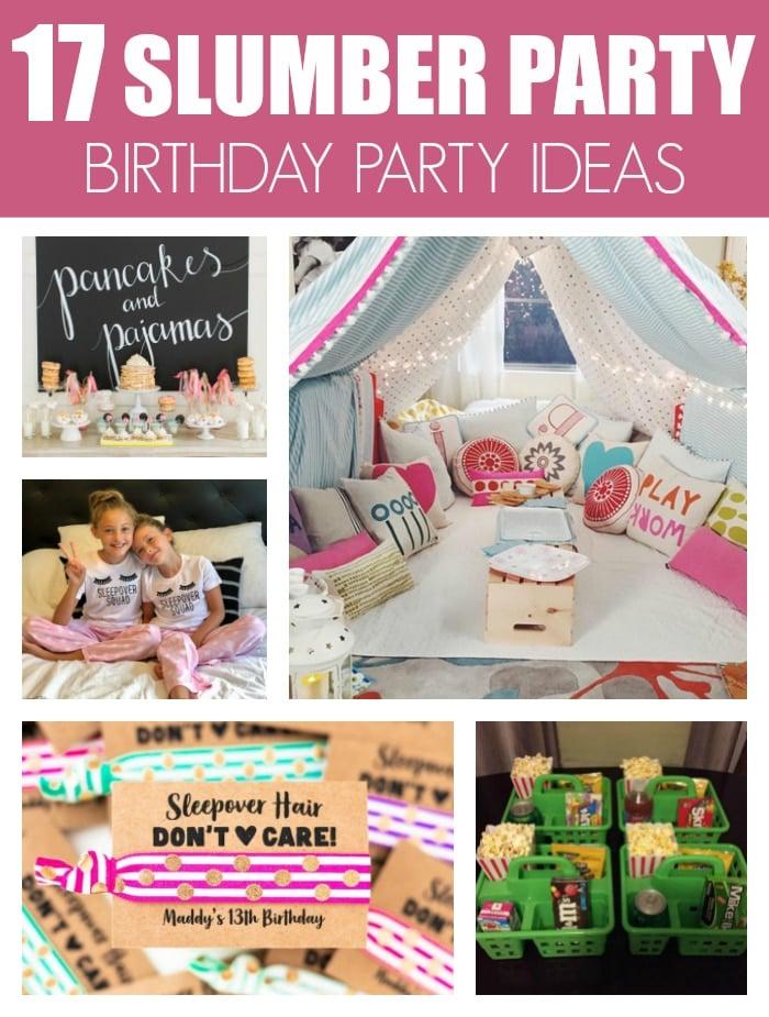 17 Fun Slumber Party Sleepover Ideas on Pretty My Party