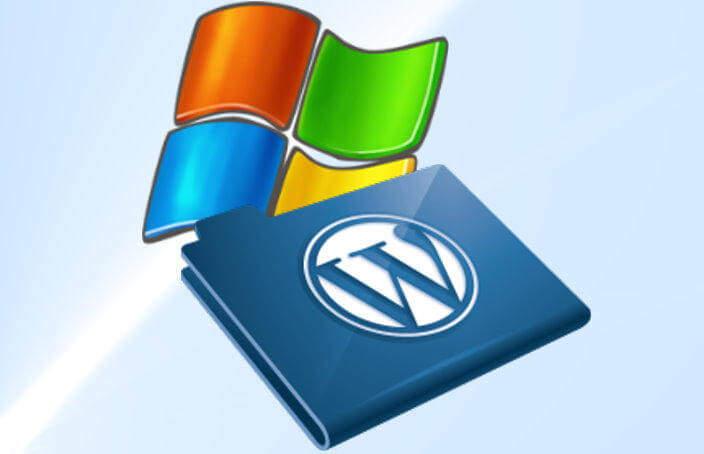 Logos Windows und Wordpress