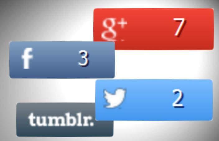 Vier Social Media Buttons