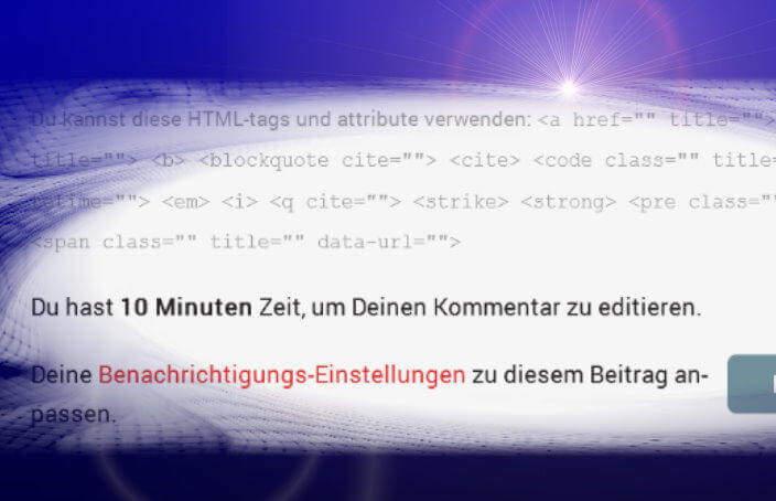 Hinweis über Editierfunktion