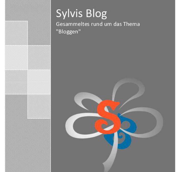 Titelseite eBook Sylvis Blog Bloggen