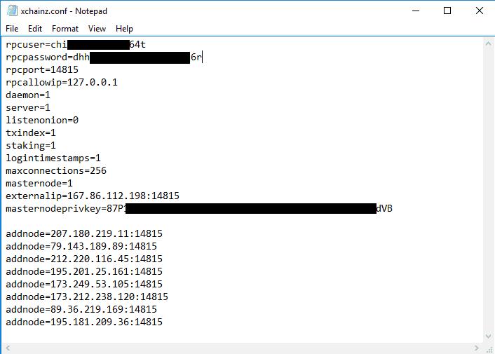 XCainZ Masternode Setup - Windows VPS