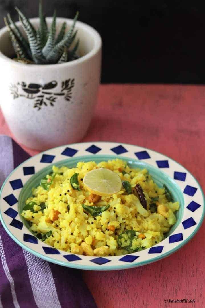 Lemon Cauliflower Rice – A Pegan Twist to the South Indian Classic
