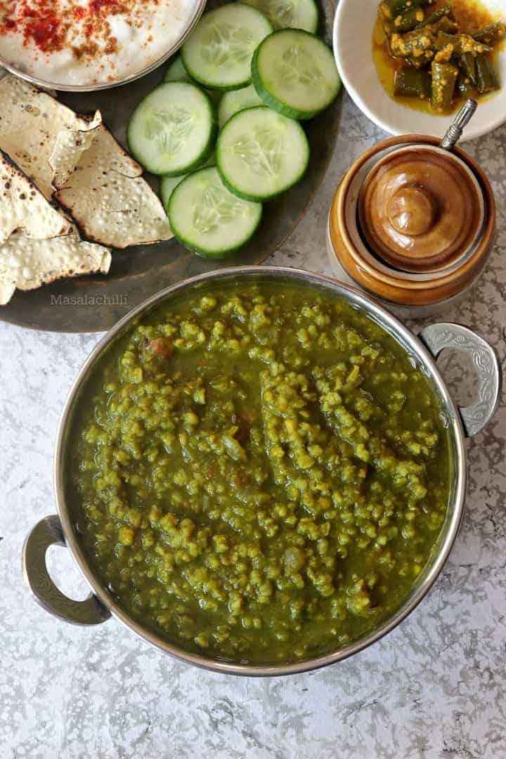 Palak Khichdi Recipe | Brown Rice Spinach Dal Khichdi