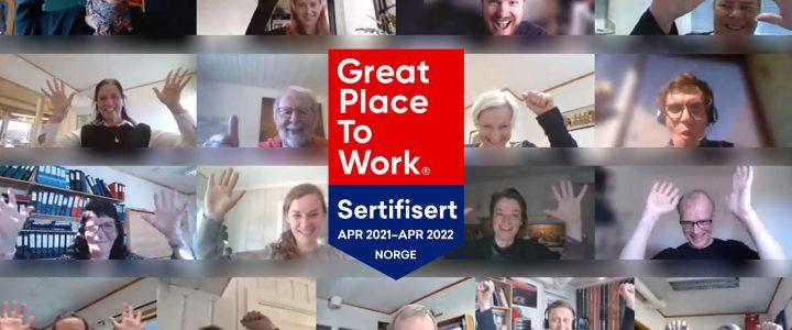 FORUT sertifisert som «Great Place to Work»