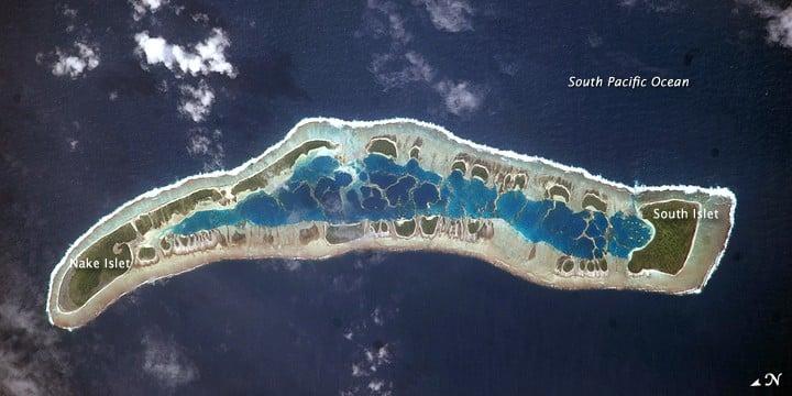 Caroline Island. Image: NASA.