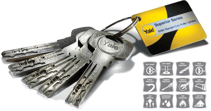 Composite door keys