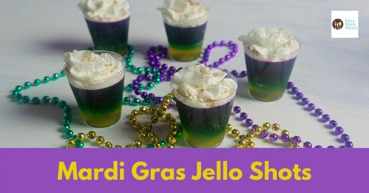 Festive Mardi Gras Layered Jello Shots