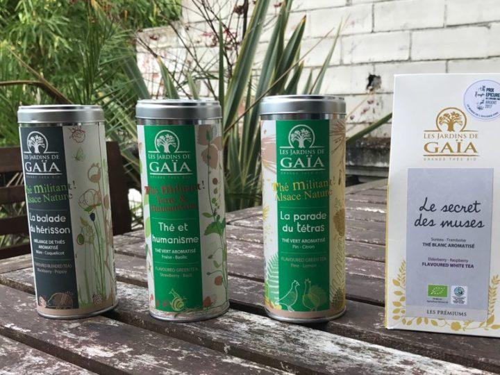 Idée cadeau : les thés militants et bien d'autres douceurs Les Jardins de Gaïa